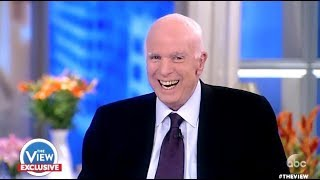 Video McCain: Laughs Hysterically When Ask If He Was Scared Of TRUMP - The View MP3, 3GP, MP4, WEBM, AVI, FLV Agustus 2018
