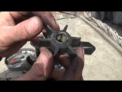 Замена крыльчатки лодочного мотора сузуки 30 фото