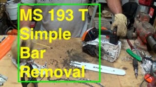 4. MS 193 T Simple Bar Removal for Cleaning