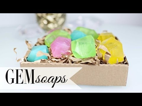 DIY Geodesic Gem Soap – Summer Party Favors by ANNEORSHINE