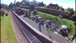 The club was invited back to Groombridge Station again this year to display some of our vintage engines and farm equipment. A very good day it was as well.