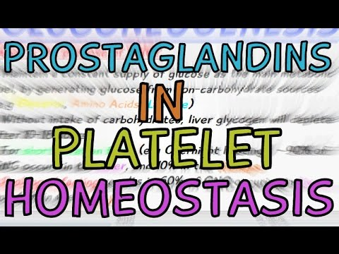 How are Prostaglandins involved in Platelet Homeostasis?