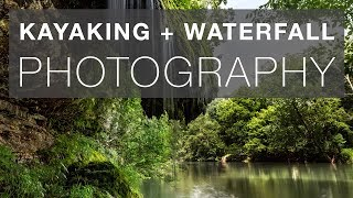 Kayaking and shooting an unusual little waterfall on the bank of the river near McMinnville Tennessee in this photography vlog.