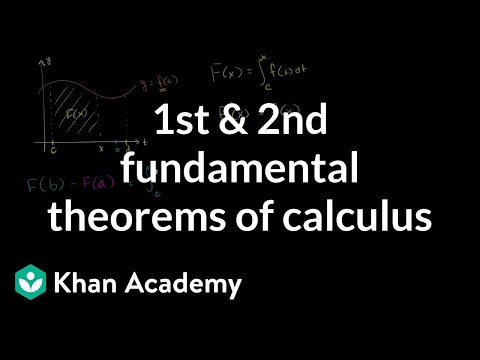 The fundamental theorem of calculus and definite integrals (video ...