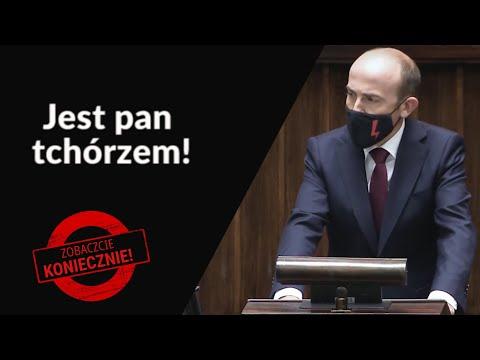 Panie Kaczyński, jest Pan tchórzem!