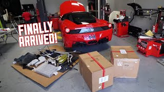 Ferrari 458 PARTS ARE HERE! Let's get building! by TJ Hunt