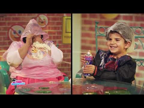 """الطفل ياسين يتغلب على شيماء سيف في لعبة """"ممنوع الضحك"""""""