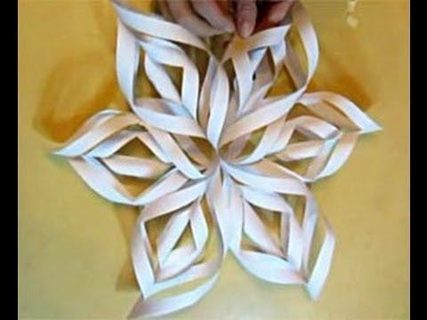 Объемные снежинки из бумаги.