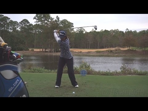 JULIETA GRANADA – FACE ON DRIVER SWING REGULAR & SLOW MOTION TIBURON GOLF COURSE 2014 CME 1080p HD