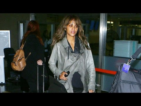 Halle Berry Exhausted Following Red Eye Flight