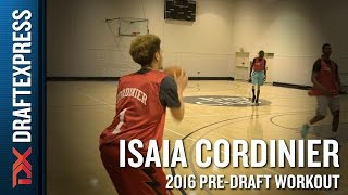 Isaia Cordinier CAA Pro Day Workout Video