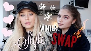 Video BESTFRIENDS SWAP STYLES:EDGY VS GIRLY! WINTER EDITION MP3, 3GP, MP4, WEBM, AVI, FLV Januari 2018