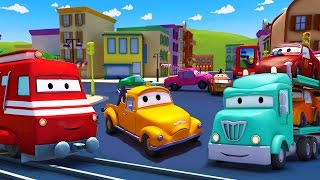 Troy el Tren 🚒 y el Porta Autos en Auto City 🚗 Dibujos animados para niños full download video download mp3 download music download