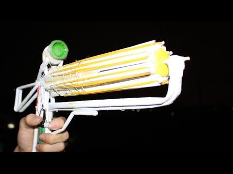 如何使紙槍射擊32橡皮筋 - 機槍