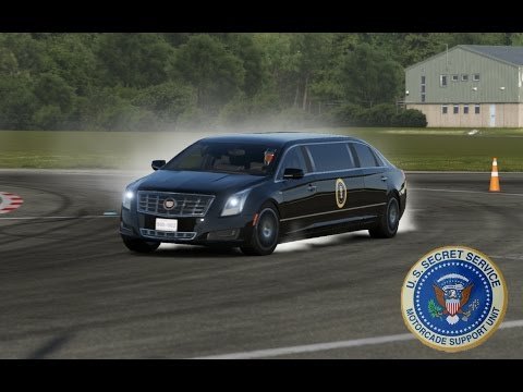 TRUMPS New FAST Limo! Secret Service Learning How To Drive The POTUS Limo On The TOP GEAR TRACK!