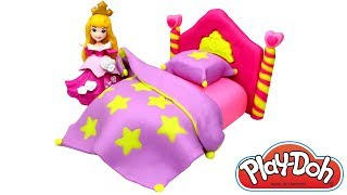 Video Play Doh Princess Bed How to Make Play Doh Bed for Disney Princess Aurora Easy Creative Fun for Kids MP3, 3GP, MP4, WEBM, AVI, FLV Agustus 2017