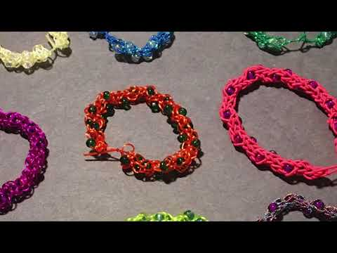 helping others with bracelets