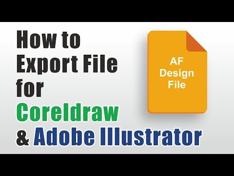 Affinity Designer Tutorial | How To Export Vector Files For Coreldraw And Adobe Illustrator
