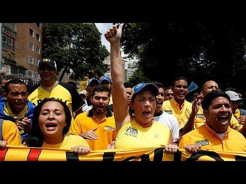 Βενεζουέλα: Διαδήλωση για τη διεξαγωγή δημοψηφίσματος κατά του Μαδούρο
