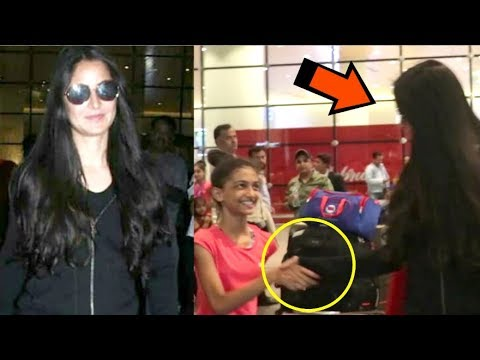 Katrina Kaif's SWEET Gesture Towards A FAN Shakes Hand With Her At The Airport- Video