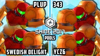 Shine 2017 SSBM – PG | Plup & RNG | Swedish Delight Vs. 343 & ycz6 – Smash Melee Doubles Pools