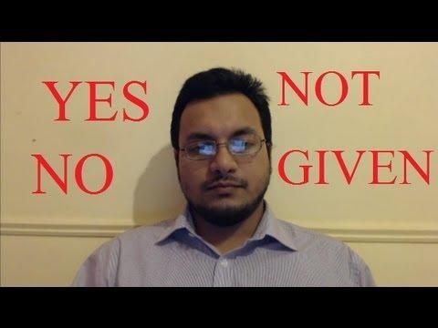 IELTS Reading Tips Yes No Not Given True False Academic 8.5 scorer SYED