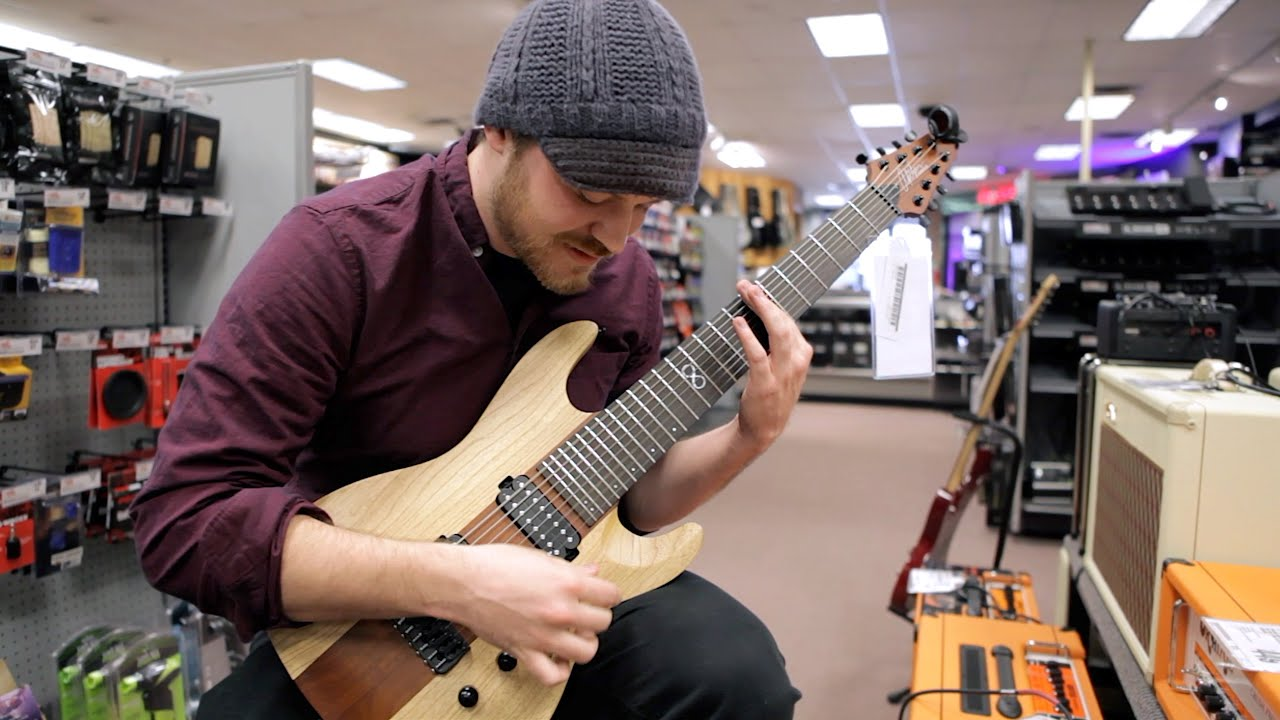 Seeing my signature guitar in my hometown Guitar Center