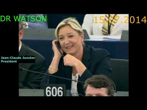 Farage & Le Pen Destroy Juncker After His Election - Juncker Gets Upset - Reaction Is Priceless