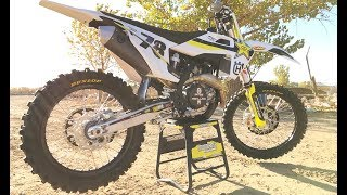 3. First Ride 2018 Rockstar Edition Husqvarna FC450 -Motocross Action Magazine
