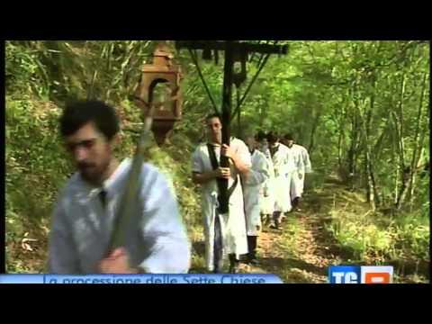 Processione delle 7 chiese Farnetella Servizio TG3 Toscana