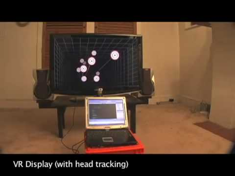 head - Using the infrared camera in the Wii remote and a head mounted sensor bar (two IR LEDs), you can accurately track the location of your head and render view d...