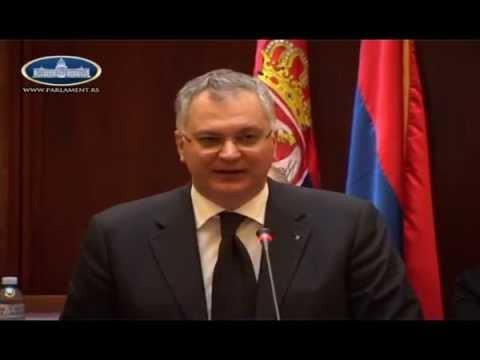 Драган Шутановац на седници Одбора Скупштине Србије за контролу служби безбедности