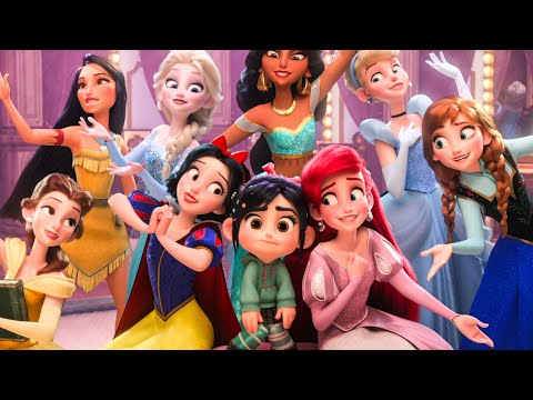 WRECK-IT RALPH 2 - Baby Moana, Frozen, Disney Princesses & BuzzTube Funny Scenes (2018) Best Moments