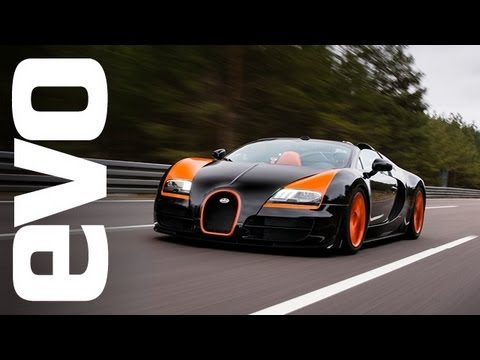 Bugatti Top Speed - Harry Metcalfe heads to Germany to see The 1184bhp Veyron Vitesse, open-top Grand Sport hit 408.84kph. Read the full story here: http://www.evo.co.uk/news/ev...