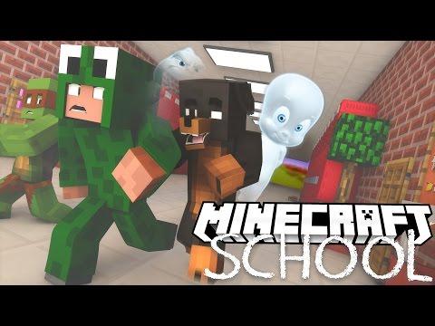 Minecraft School - THE SCHOOL IS HAUNTED! w/ Little Lizard (видео)