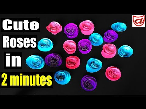 Birthday wishes for best friend - How to make Cute paper roses for home decoration  Paper flowers  DIY decor ideas