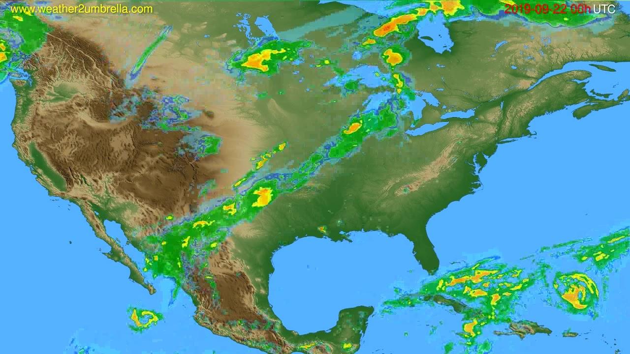 Radar forecast USA & Canada // modelrun: 12h UTC 2019-09-21