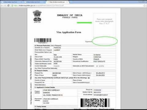 VSI Visa – INDE – Guide de remplissage du formulaire – Demande de visa