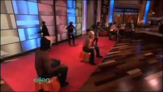 Ellen Haunted Hunky Musical Chairs!!!