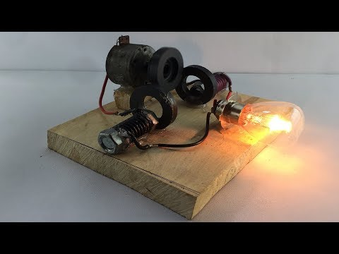 Experiment Electric 2019 Free Energy Generator 100% Self Running By DC Motor