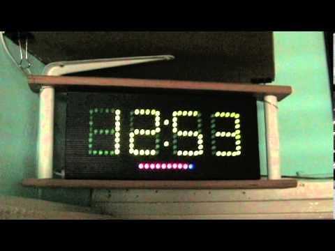 arduino ellipse LED clock