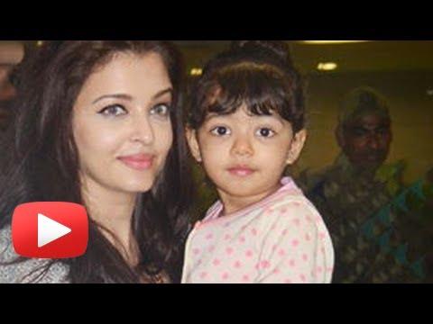 Aishwarya Rai And Baby Aaradhya Bachchan Return From Dubai - SPOTTED