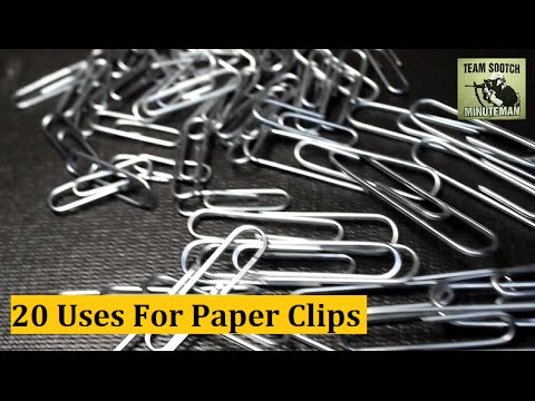clip - Sensible Prepper Presents: 20 Paper Clip Hacks for Survival & Everyday uses. Another installment in the Everyday items Survival Series. Thanks For Watching~ Sootch00 Music is from Jingle...