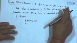 Mod-02 Lec-15 Cauchy Integral Theorem
