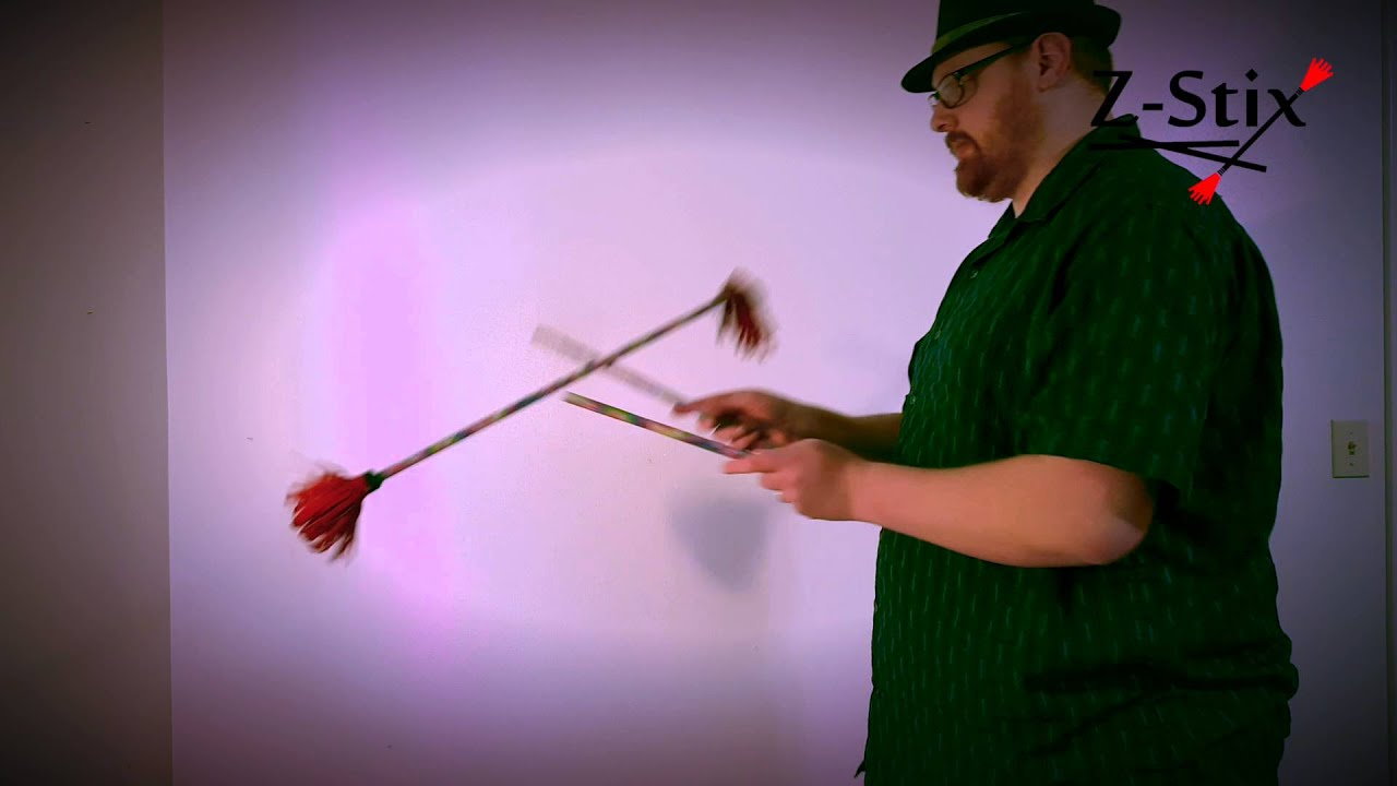 Z-Stix Flower Stick Beginner Trick Tutorial 104: Helicopter