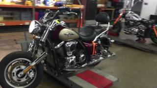 4. 2009 Kawasaki Vulcan VN 1700 Nomad (red-tan) 1697 Fallen Cycles