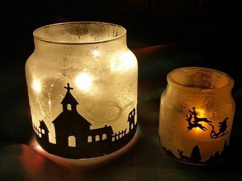 meravigliose lampade natalizie fai da te