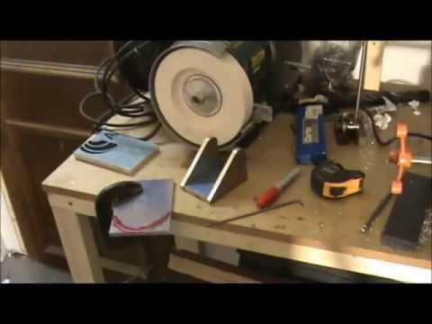homemade lathe tool grinding jig