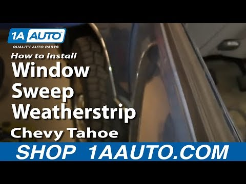 How To Install Replace Window Sweep Weatherstrip 1996-99 Chevy Tahoe Suburban
