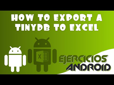 How To Export A TinyDB To Excel | App Inventor 2